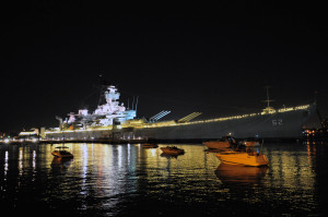 USS_New_Jersey_Night